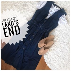 {land's end} Jean v neck button down dress